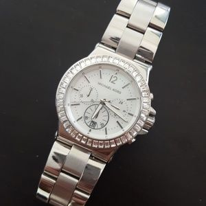 83 off accessories world map watch from courtneys closet on michael kors stainless steel rhinestone watch sciox Choice Image